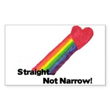 """Straight Not Narrow"" Rectangle Decal"
