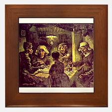 Van Gogh Potato Eaters Framed Tile