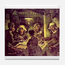 Van Gogh Potato Eaters Tile Coaster