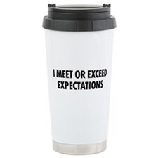 I Meet Expectations Thermos Mug