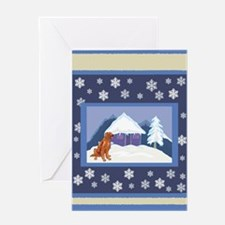 Snowflake Irish Setter Greeting Card