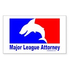 LAWYER/SHARK Rectangle Decal