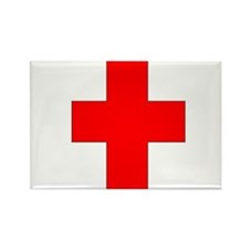 Blank Red Cross 1 Rectangle Magnet (10 pack)