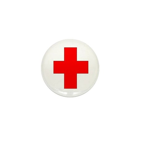 Blank Red Cross 1 Mini Button (100 pack)