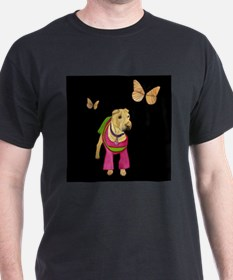 Shar Pei with Butterfly T-Shirt