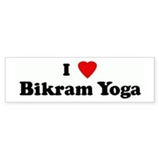 I Love Bikram Yoga Bumper Bumper Sticker