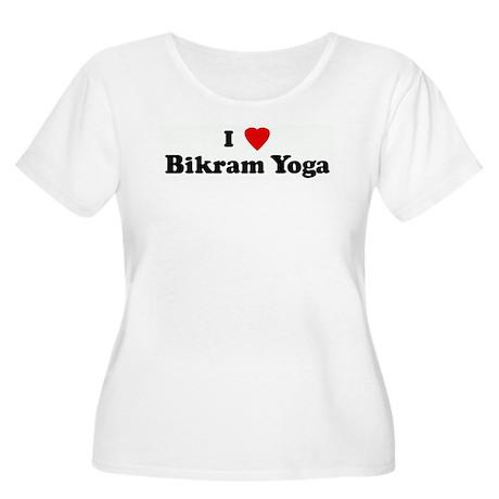 I Love Bikram Yoga Women's Plus Size Scoop Neck T-