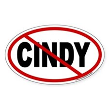 Anti Cindy Sheehan Euro Oval Decal