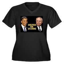 Funny Anti south Women's Plus Size V-Neck Dark T-Shirt