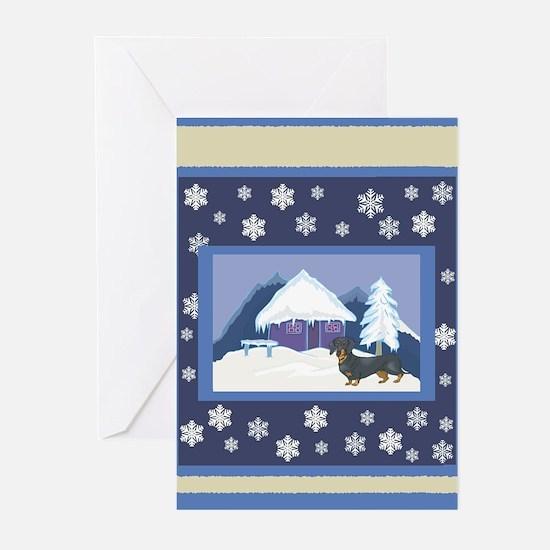 Snowflake Dachshund Greeting Cards (Pk of 10)