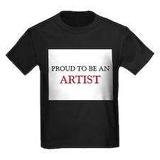 Proud To Be A ARTIST Kids Dark T-Shirt