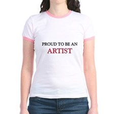Proud To Be A ARTIST Jr. Ringer T-Shirt