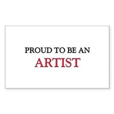 Proud To Be A ARTIST Rectangle Sticker