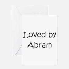Unique Abram Greeting Card