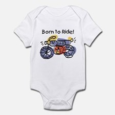 Child Art Born To Ride Infant Bodysuit