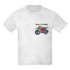 Child Art Born To Ride T-Shirt