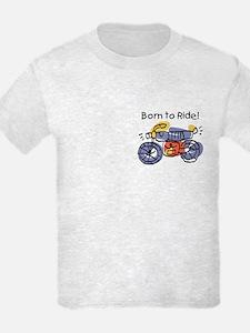 Child Art Born To Ride T-Shirt