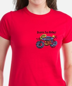 Child Art Born To Ride Tee
