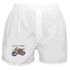 Child Art Born To Ride Boxer Shorts