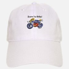Child Art Born To Ride Baseball Baseball Cap