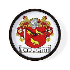 McGill Coat of Arms Wall Clock