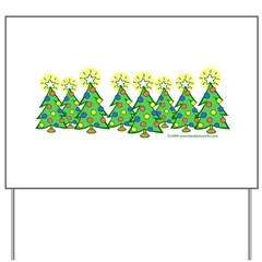 Christmas Forest Yard Sign