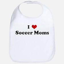 I Love Soccer Moms Bib