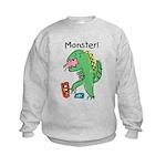 T-Rex Monster Child Art Kids Sweatshirt