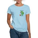 T-Rex Monster Child Art Women's Light T-Shirt