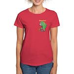 T-Rex Monster Child Art Women's Dark T-Shirt