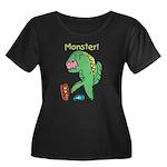 T-Rex Monster Child Art Women's Plus Size Scoop Ne