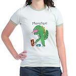 T-Rex Monster Child Art Jr. Ringer T-Shirt
