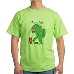 T-Rex Monster Child Art Green T-Shirt