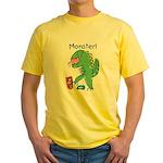 T-Rex Monster Child Art Yellow T-Shirt