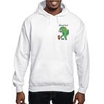 T-Rex Monster Child Art Hooded Sweatshirt