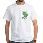 T-Rex Monster Child Art White T-Shirt