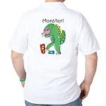 T-Rex Monster Child Art Golf Shirt