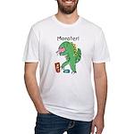 T-Rex Monster Child Art Fitted T-Shirt