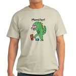 T-Rex Monster Child Art Light T-Shirt