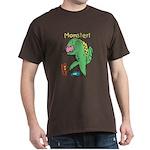 T-Rex Monster Child Art Dark T-Shirt