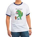 T-Rex Monster Child Art Ringer T