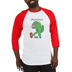 T-Rex Monster Child Art Baseball Jersey