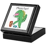 T-Rex Monster Child Art Keepsake Box
