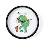 T-Rex Monster Child Art Wall Clock