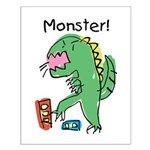 T-Rex Monster Child Art Small Poster