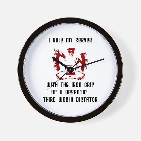 """Admin Dictator"" Wall Clock"