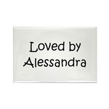 Cute Alessandra Rectangle Magnet