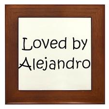Cute Alejandro Framed Tile