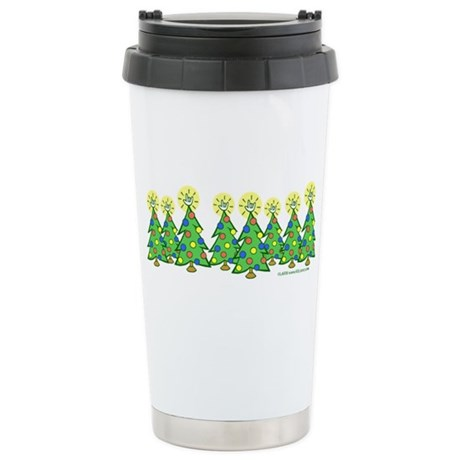 ILY Christmas Forest Stainless Steel Travel Mug