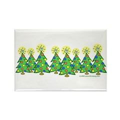 ILY Christmas Forest Rectangle Magnet (100 pack)